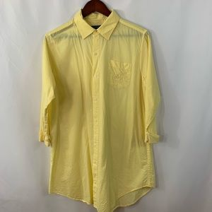 Ralph Lauren Shirt Dress Button M LRL Logo Tunic